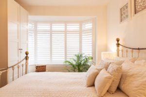 Swanage Plantation Shutters in bedroom