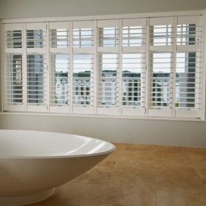 Bathroom plantation shutters Rickmansworth