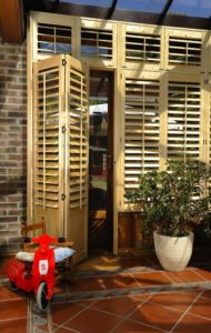 Just shutters Beverley fitted on doors of conservatory