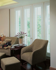 Just Shutters Harrogate lounge installation